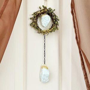 Amazonite gemstone mini wreath